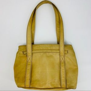 Peruzzi Florence buckskin tan leather shoulder bag